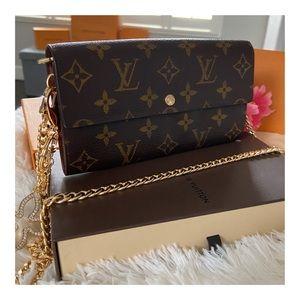 ❤️Louis Vuitton Sarah Wallet On Chain Crossbody❤️